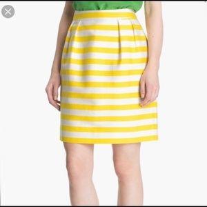 Kate Spade Yellow Striped Skirt